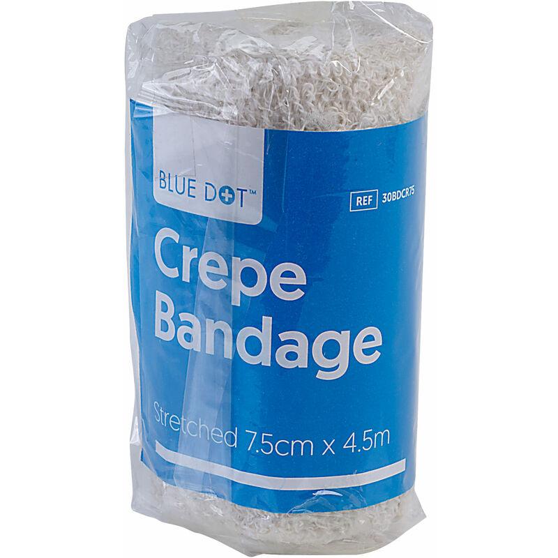 Image of 30BDCR75 Crepe Bandage 7.5cm x 4.5m Stretched - Blue Dot