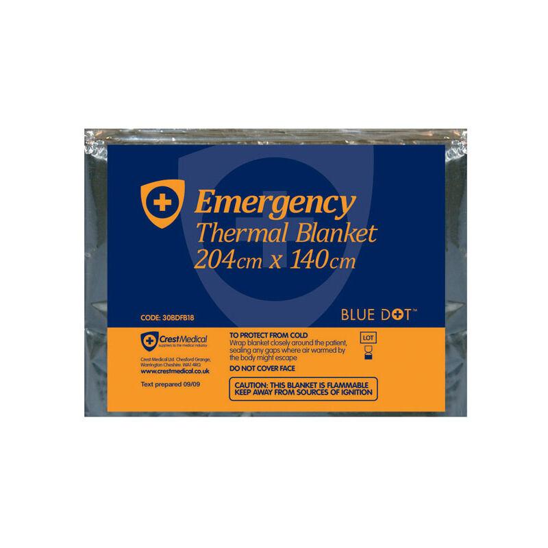 Image of 30BDFB18 Emergency Foil Blanket 204 x 140cm - Blue Dot