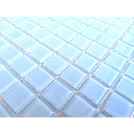 Blue Glass Bathroom Kitchen Wall Borders Splashbacks Mosaic Tiles Sheet MT0009