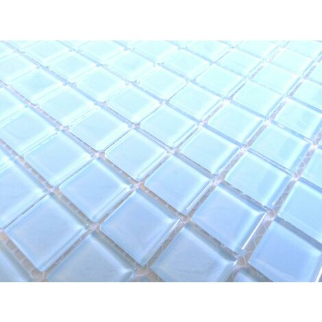Blue Glass Bathroom Kitchen Wall Borders Splashbacks Mosaic Tiles MT0009