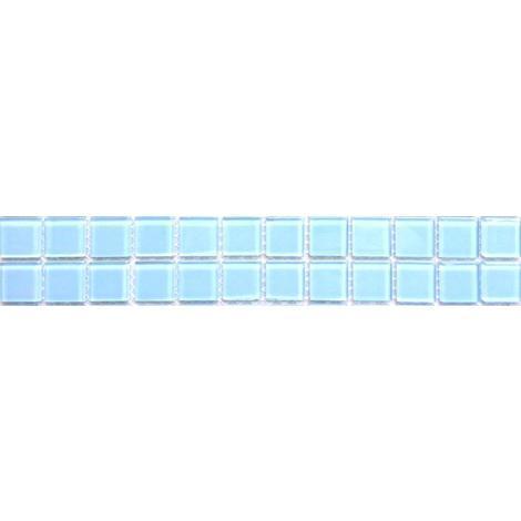 Blue Glass Bathroom Kitchen Wall Borders Splashbacks Mosaic Tiles MT0009