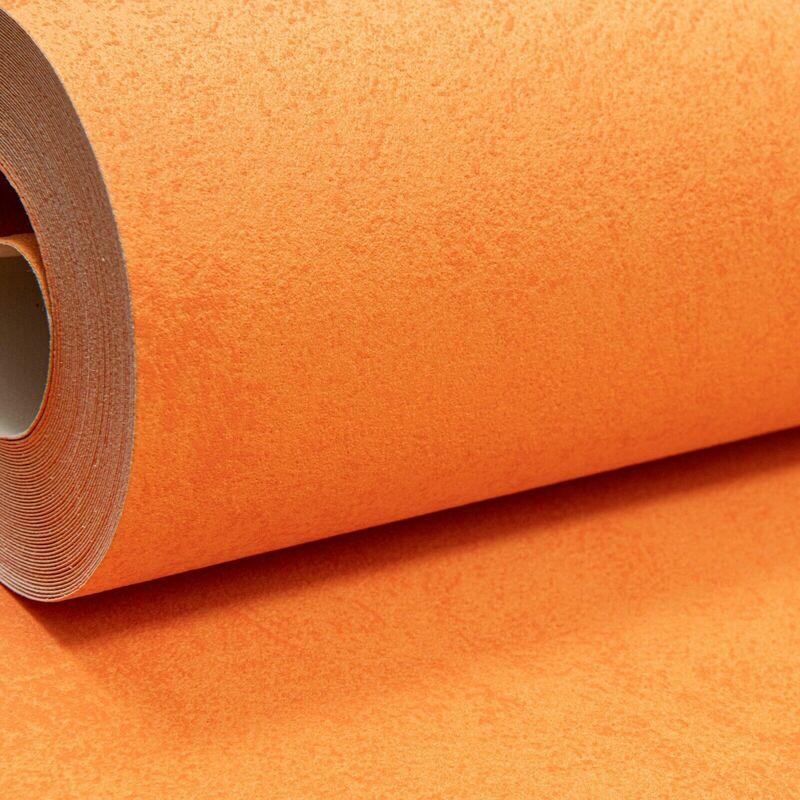Image of Erismann Bold Plain Warm Orange Textured Thick Paste the Wall Vinyl Wallpaper