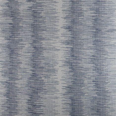 Blue Ombre Stripe Wallpaper Navy Silver Metallic Superior Wallcoverings