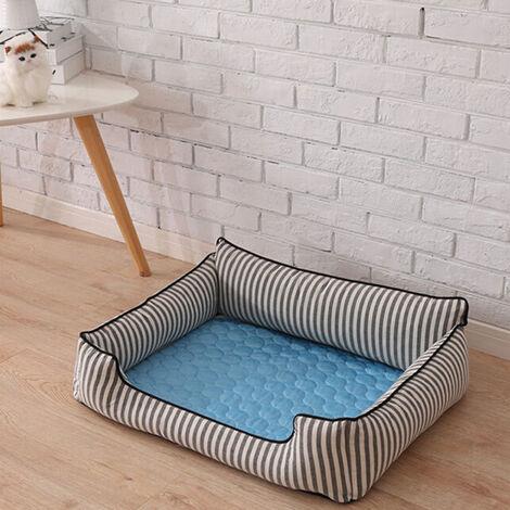 Blue Pet Dog Puppy Self Cooling Mat Cushion Summer Cool Bed