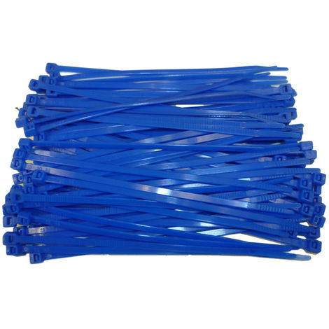 BLUE PLASTIC CABLE TIES / WIRE TIES - ALL SIZES - HIGH QUALITY HEAVY DUTY TIES