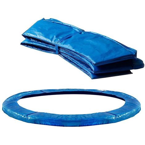 Blue PVC Protection Cushion Cover for Trampoline Edge Blue PVC Protection Cushion Cover for Trampoline Edge Trampoline Springs Exterior - 244 cm