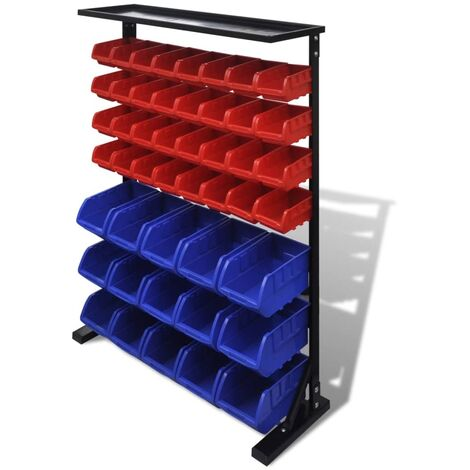 Blue & Red Garage Tool Organiser