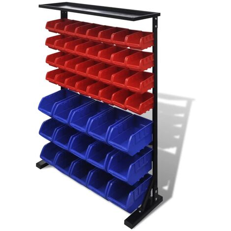 Blue & Red Garage Tool Organiser
