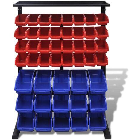 Blue & Red Garage Tool Organiser QAH03971
