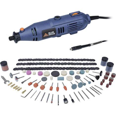 BLUE RIDGE Outil Rotatif Electrique Multifonction 130W, Meuleuse Set avec 233 Accessoires, Vitesse Variable 10000-32000tr/min, pour Polissage/meulage/forage/découpe/gravure, BR3100