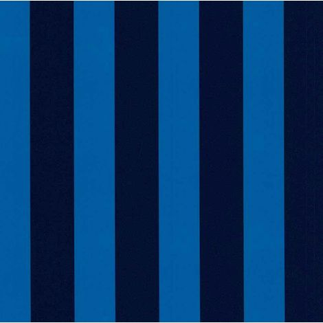 Blue Striped Wallpaper Children Kids Girls Boys Room Washable P+S Die Maus