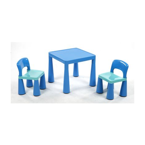 Blue Table & Chairs Set