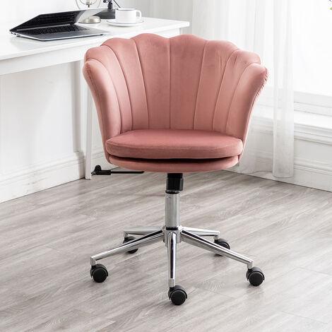 Blue Velvet Office Swivel Chair Gas Lift Computer Seat Adjustable Desk Chair