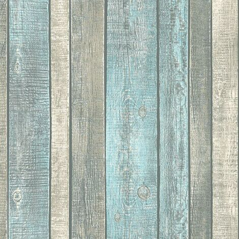 Blue Wood Effect Wallpaper AS Creation Rustic Panel Paste The Wall Vinyl
