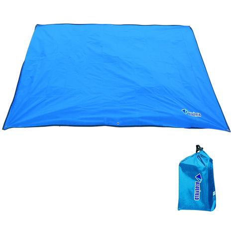 Bluefiled Impermeable Plage Tapis D'Exterieur Blanket Portable Mat Pique-Nique Multifonctionnel Camping Bebe Grimpez Tapis De Sol Matelas, Bleu, Xs