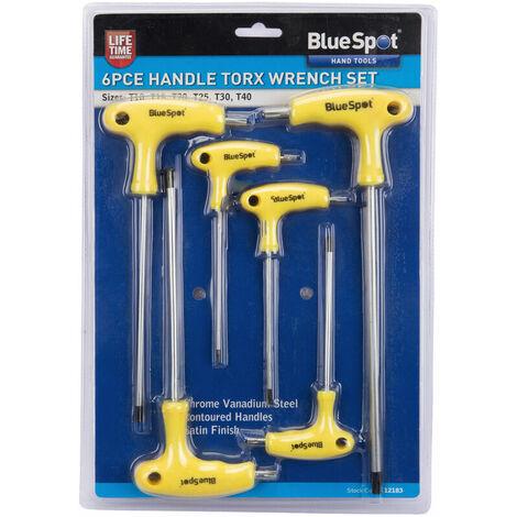 "main image of ""BlueSpot 12183 6 Piece T Handle Torx Wrench Set"""