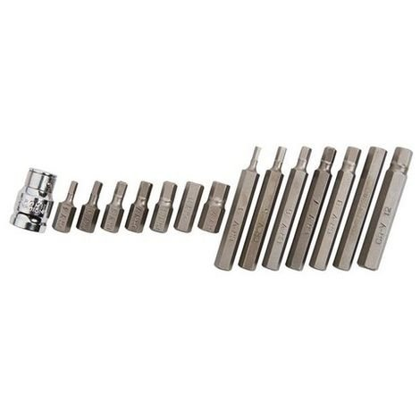 BlueSpot 1513 Hex Bit Set, 15 Piece