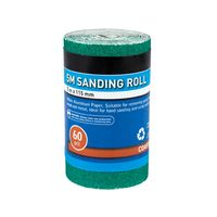 BlueSpot 5m x 115mm Aluminium Oxide Sanding Roll 60 Grit Anti Clog Sandpaper