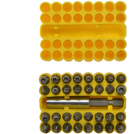 BlueSpot Tools B/S14151 Security Bit Set 33 Piece