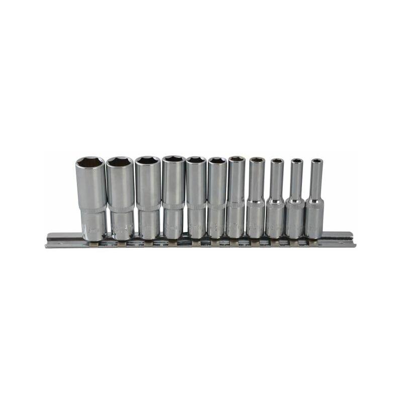 Image of Deep Socket Set of 11 Metric 1/4in Square Drive (B/S01540)