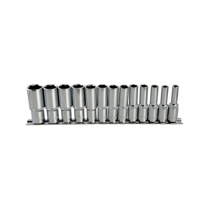 Image of Deep Socket Set of 13 Metric 3/8in Square Drive ( 01542) - B/s