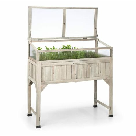 Blum Altiplano Terrado Maceta elevada 120 x 121 x 54 Invernadero Fieltro Madera