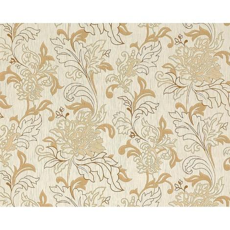 GroBartig Blumen Tapete Vliestapete EDEM 604 93 Landhaus XXL Stilvolles Florales  Muster Mit Blättern Beige Braun