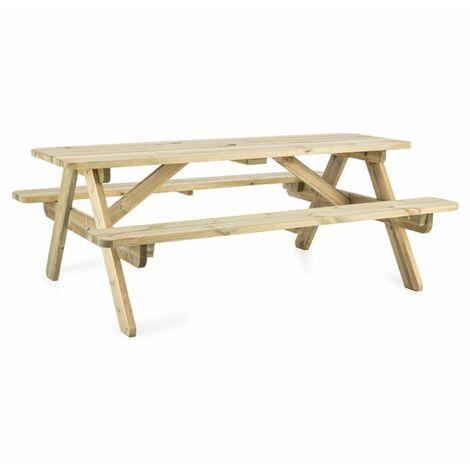 Blumfeldt 180 table pique-nique mobilier jardin table banc 32mm bois ...