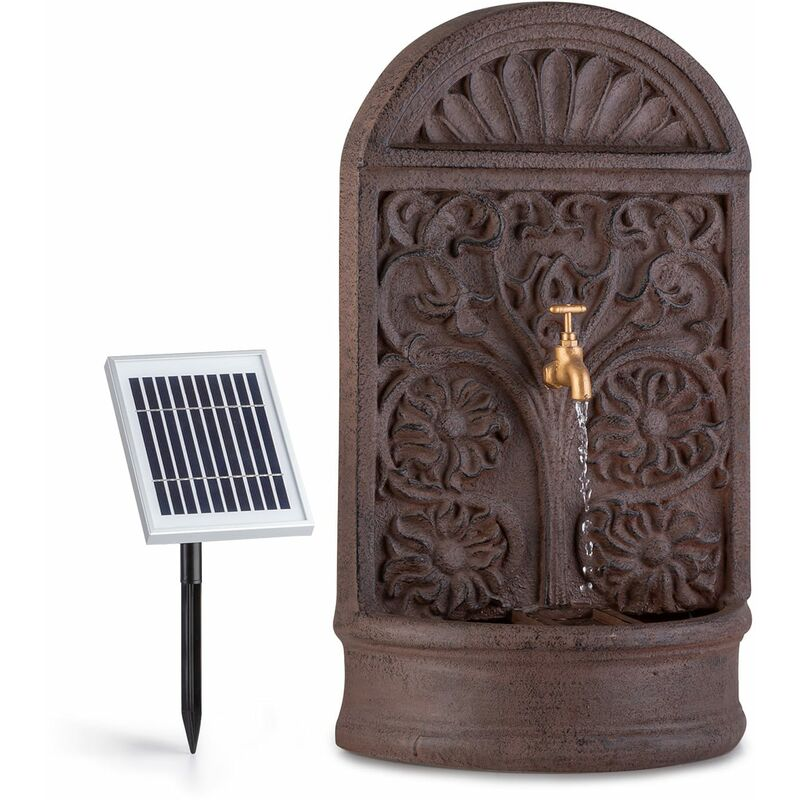 Fuente solar Blumquell LED 5 m de cable panel solar de piedra fundida - Blumfeldt