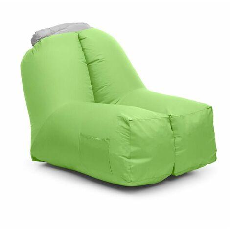 Blumfeldt Airchair Sillón inflable 80x80x100cm Mochila Lavable Poliéster verde