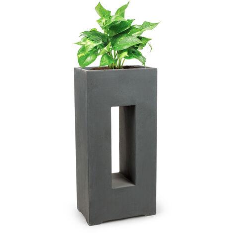 Blumfeldt Airflor Plant Pot 45 x 100 x 27 cm Fiberglass In/Outdoor dark grey