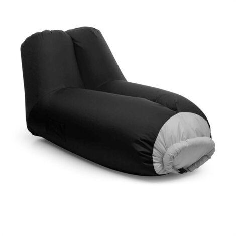 Blumfeldt Airlounge Sofá inflable 90x80x150cm Mochila Lavable Poliéster verde