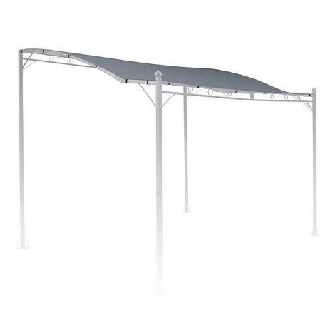 Blumfeldt Allure Roof toiture de rechange pergola auvent 3x2,5 m gris