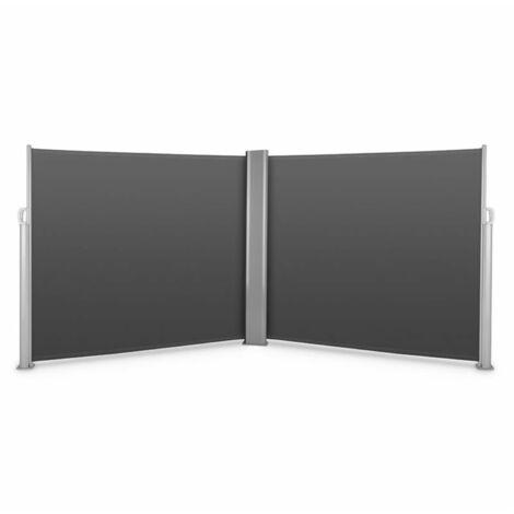 Blumfeldt Bari Doppio 616 Double store latéral 6x1,6m aluminium -anthracite