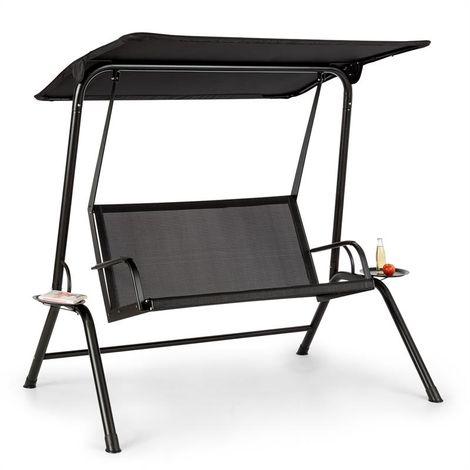 Blumfeldt Bel Air Mono Swing Swinging Lounger Steel Frame Mono Relax Black