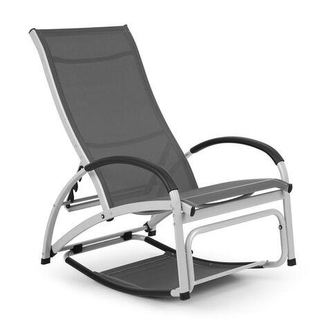 "main image of ""Blumfeldt Beverly Wood Sun Lounger Rocking Chair Aluminium Grey"""