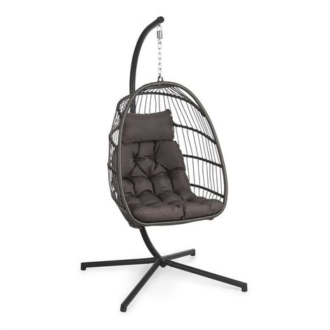 Blumfeldt Biarritz Individuelle Hanging Chair Seat Cushion 130 kg Dark Grey