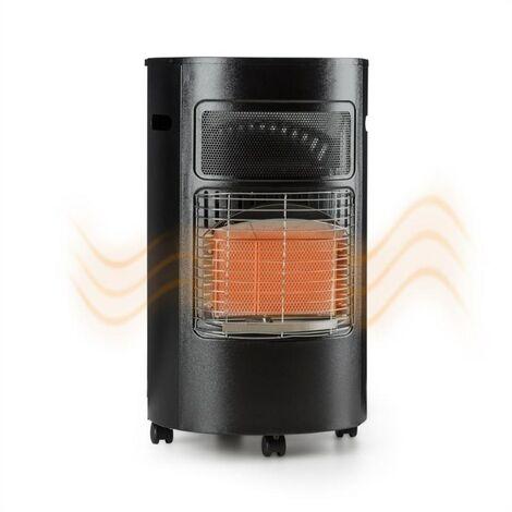 Blumfeldt Bonaparte Calefactor de gas Quemador de cerámica Infrarrojos Hasta 4,2 kW Negro
