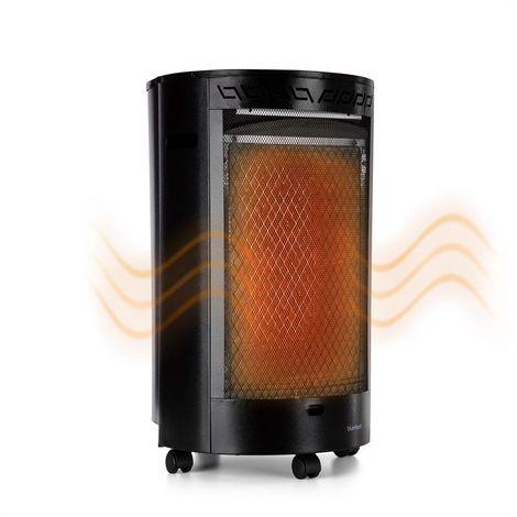 Blumfeldt Bonaparte Poêle à gaz système ODS chauffage 2500W noir