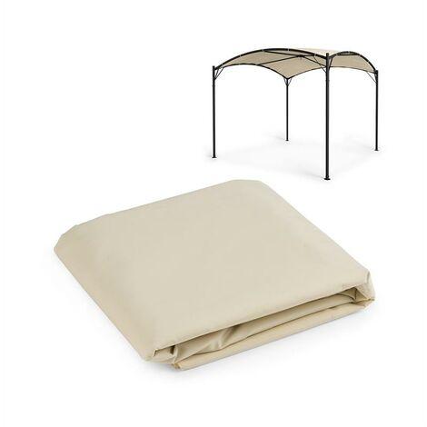 Blumfeldt Castello Auvent de rechange pour pergola 3,5 x 3,5 m - polyester beig