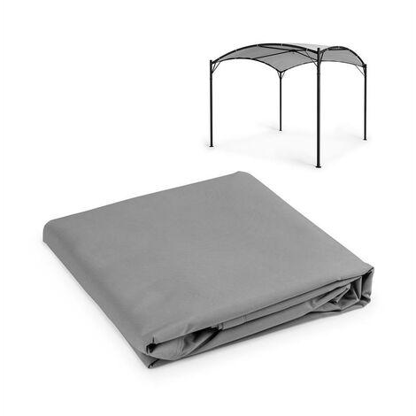 Blumfeldt Castello Auvent de rechange pour pergola 3,5 x 3,5 m - polyester gris