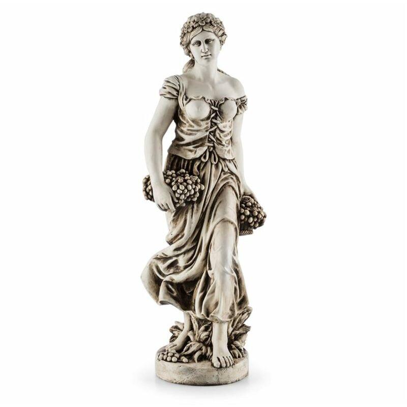 Ceres estatua escultura terminación a mano 1,2m fibra de vidrio MgO efecto alabastro