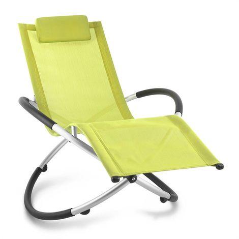 Blumfeldt Chilly Billy Aluminium Deck Chair Lounger Lime