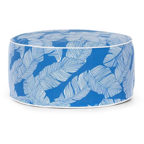 blumfeldt Cloudio tabouret gonflable 55 x 28 cm (ØxH) PVC/Polyester bleu