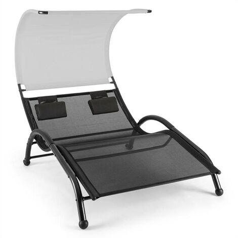 Blumfeldt Dandyland Two-seater Swinging Lounger 130x200cm Canopy Grey