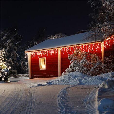 Blumfeldt Dreamhouse Snow Lichterkette 24m 480 LED warmweiß Snow Motion