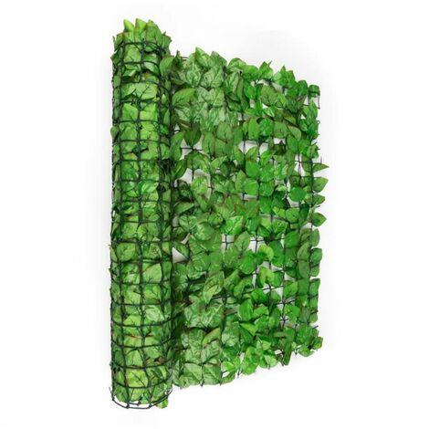Blumfeldt Fency Bright Leaf Clôture pare-vue Paravent 300x100 cm hêtre -vert clair