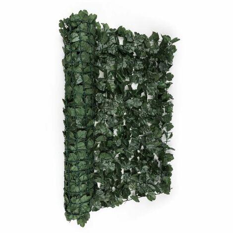 Blumfeldt Fency Dark Ivy valla de protección visual y anti viento 300x100 cm hiedra verde oscuro