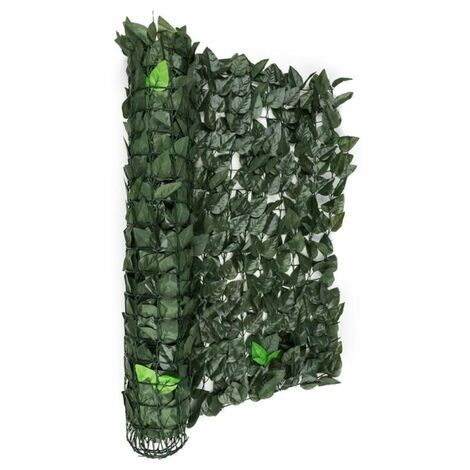 Blumfeldt Fency Dark Leaf Clôture pare-vue Paravent 300x100 cm -mélange vert foncé