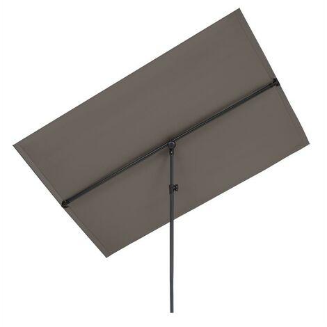Blumfeldt Flex-Shade XL parasol 150 x 210 cm en polyester UV 50 gris foncé